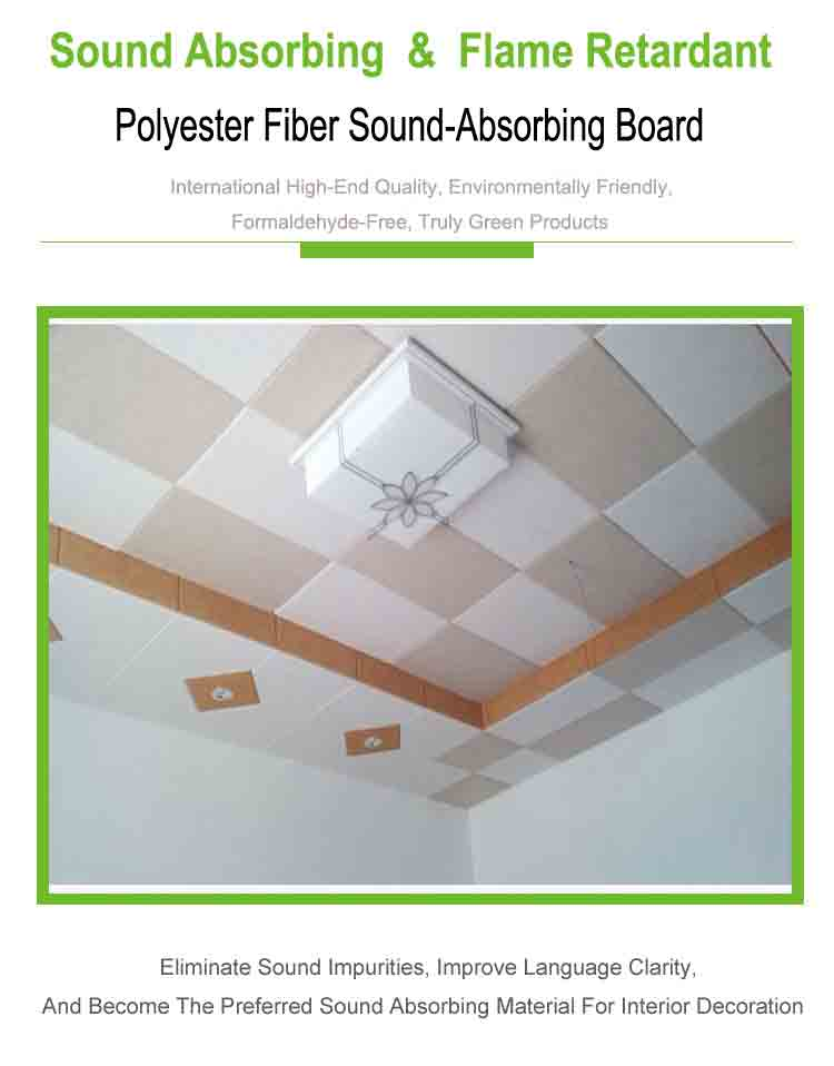 1 polyester fiber sound absorbing panel