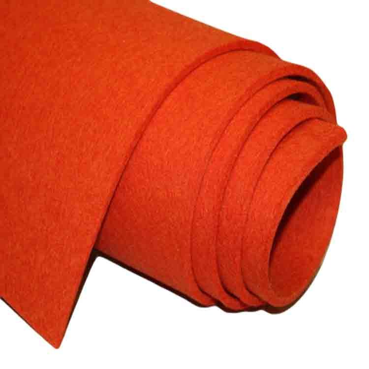 red wool felt