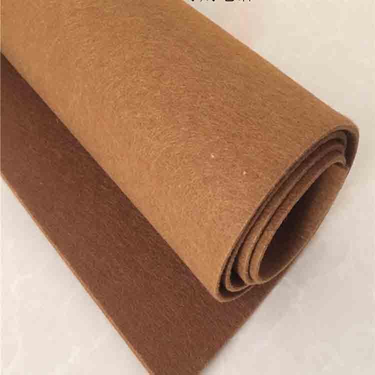 brown felt fabric