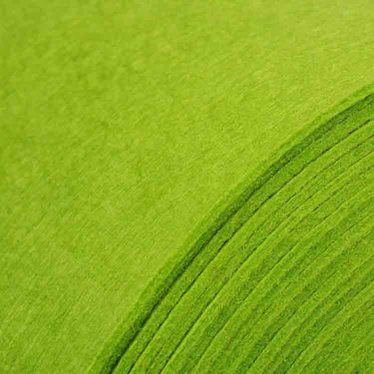 green felt roll 2