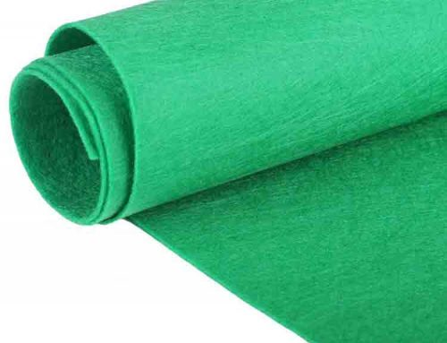 green felt roll