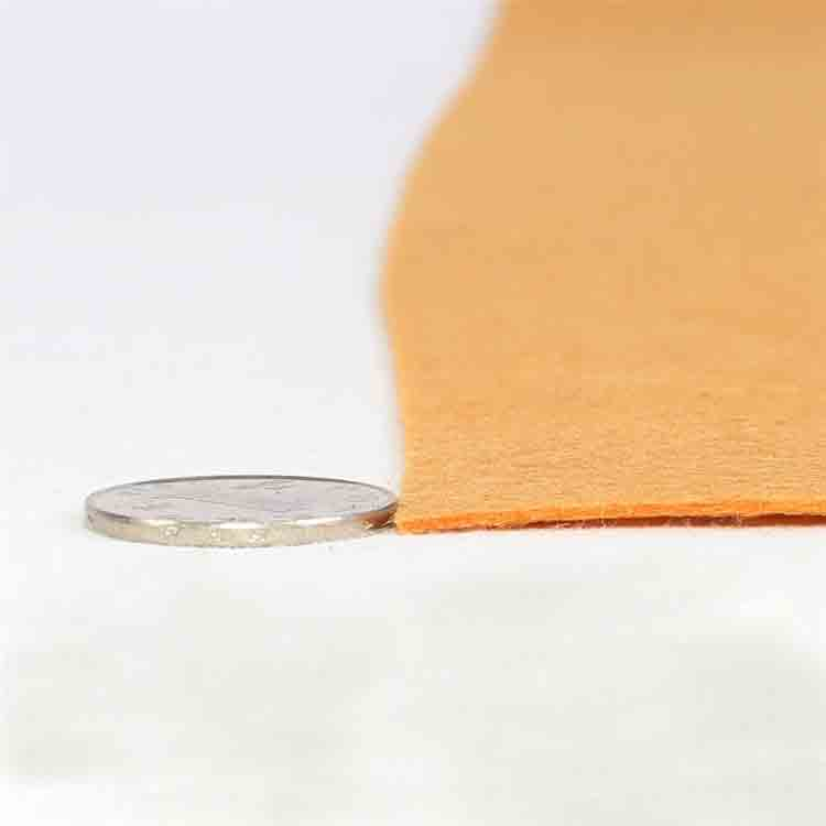 orange felt fabric 2
