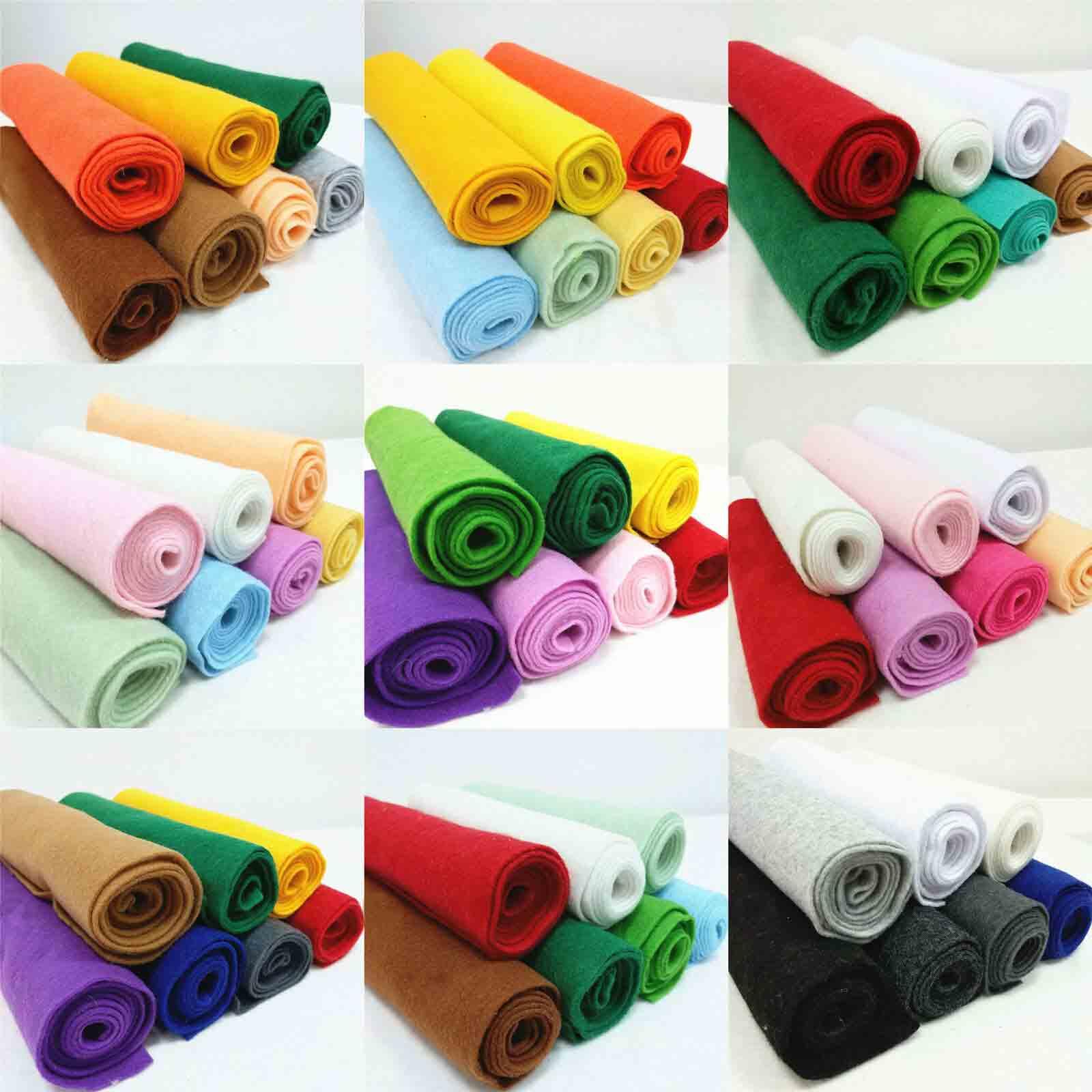 rolls of felt fabric